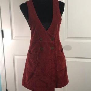 Free People Corduroy Overall Dress